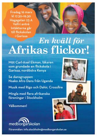 En kväll för Afrikas flickor!