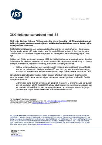 OKG förlänger samarbetet med ISS