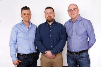 Henrik Ahrman, Rikard Mogensen & Lars Haglöf från OptiFriction, fotograf Victor Ackerheim