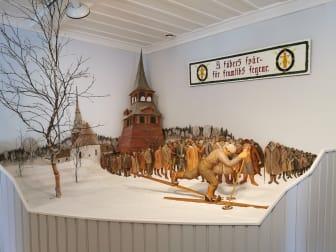 Målgången i Mora i miniatyr