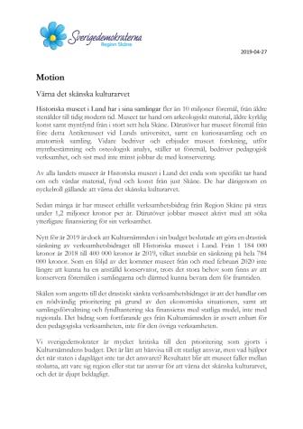 Motion. Värna det skånska kulturarvet.pdf