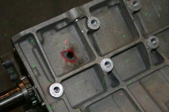 Motor mit Pleuelschaden