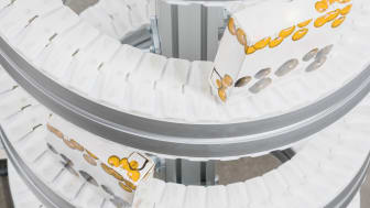 Compact spiral elevator