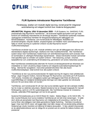 FLIR Systems introducerar Raymarine YachtSense
