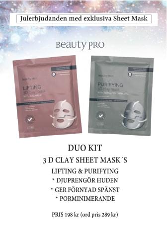 Beauty Pro Duo-Masks Julklapp 2019 A4 Skylt
