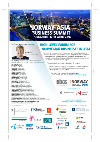 Norway-Asia Business Summit 2016