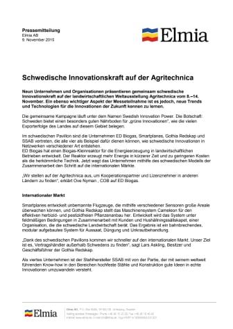 Pressemitteilung, german version