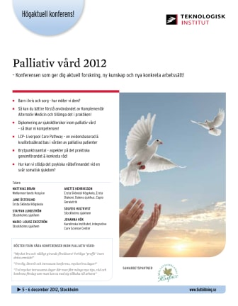 Palliativ vård 2012 -  5 december 2012 - 6 december 2012
