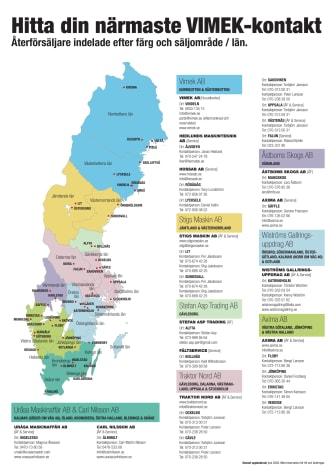 Karta över Vimeks säljdistrikt i juni 2020