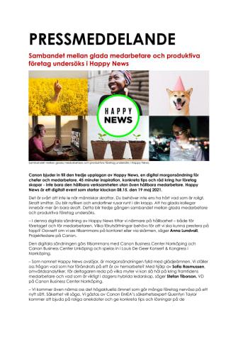 Nyhet_Canon_210504_Sambandet mellan glada medarbetare och produktiva företag undersöks i Happy News .pdf