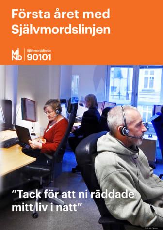 22 000 samtal till Minds Självmordslinje första året, rapport pdf