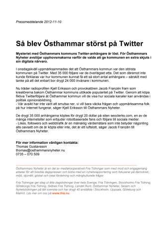 Så blev Östhammar störst på Twitter