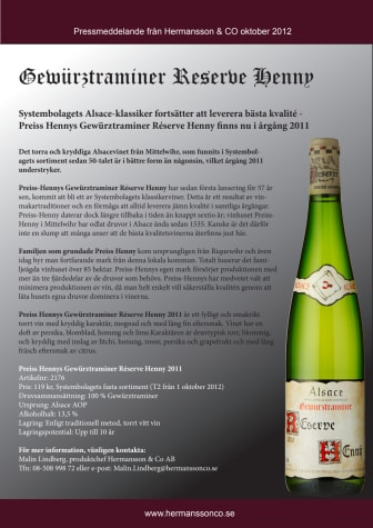 Systembolagets Alsace-klassiker fortsätter att leverera bästa kvalité