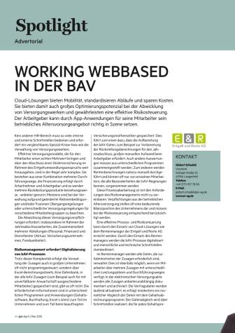 Working webbased in der bAV