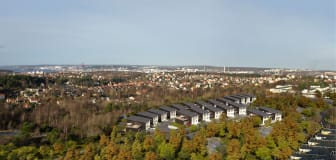 Kastmyntsgatan Högsbohöjd nybyggda hus inskissade in sin miljö