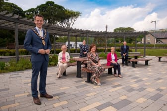 Glenarm environmental enhancements at the foreshore include a new granite seating area, planting and a pergola