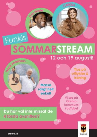 Funkis SommarStream Augusti_affisch