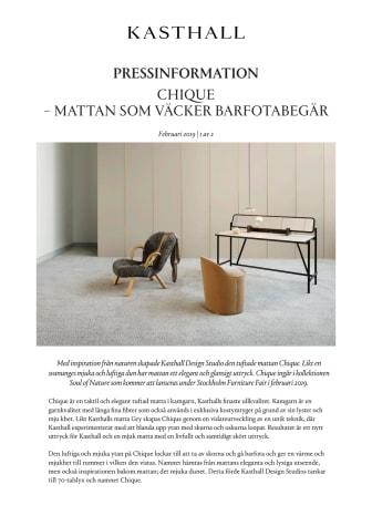 CHIQUE – MATTAN SOM VÄCKER BARFOTABEGÄR
