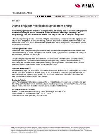 Visma erbjuder nytt flexibelt avtal inom energi