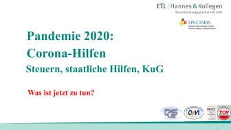Pandemie 2020: Corona-Hilfen: Veranstaltung des Spectaris e. V.