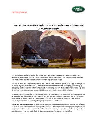 Land Rover Defender støtter verdens tøffeste eventyr- og utholdenhetsløp