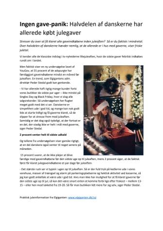 Ingen gave-panik: Halvdelen af danskerne har allerede købt julegaver