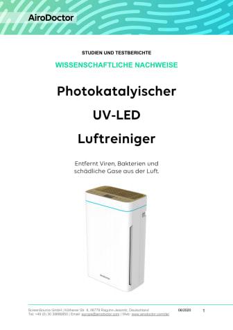 AiroDoctor® Wissenschaftliche Nachweise zum photokatalytischen HEPA Luftfilter
