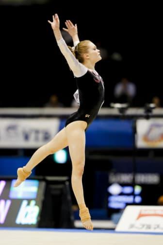Ida Gustafsson under VM i artistisk gymnastik i Tokyo 2011.