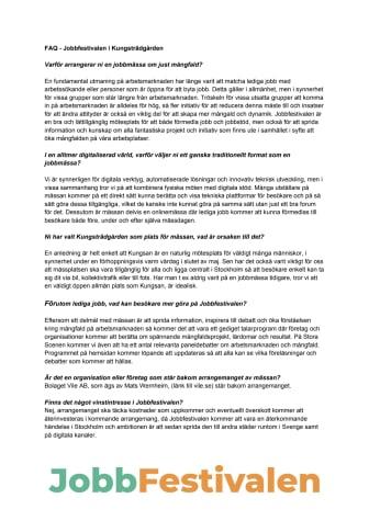 Jobbfestivalen FAQ