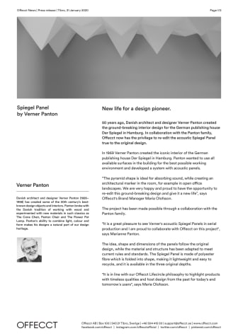 Offecct Press release Spiegel Panel by Verner Panton_EN