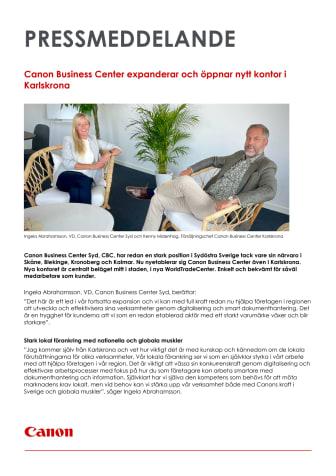 Pressmeddelande_Canon_Canon Busniness Center expanderar till Karlskrona 211006.pdf
