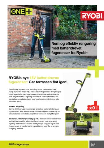 RYOBIs nye 18V batteridrevne fugerenser: Gør terrassen flot igen!