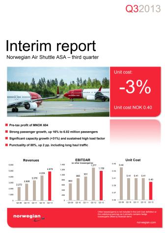 Norwegian Q3 Report 13