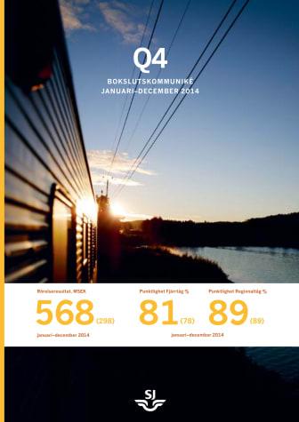 Ökat resande och förbättrat resultat för SJ