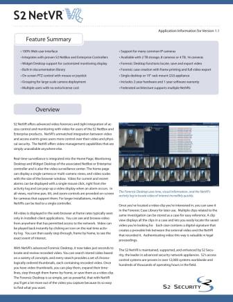 Passersystem från Gate Security - S2 NetVR