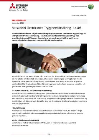Mitsubishi Electric med Trygghetsförsäkring i 14 år!