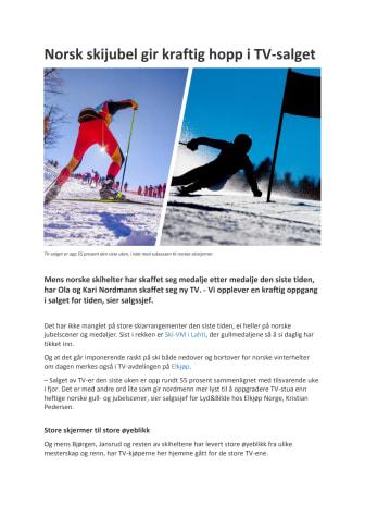 Norsk skijubel gir kraftig hopp i TV-salget