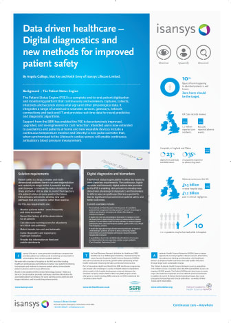 Data driven healthcare – Digital diagnostics and new methods for improved patient safety