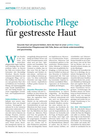 Probiotische Pflege für gestresste Haut