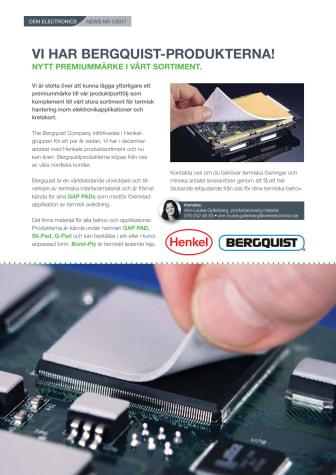 Vi har Bergquist-produkterna! Nytt premiummärke i vårt sortiment.