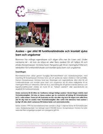 Azalea - ger stöd till funktionshindrade och kroniskt sjuka barn och ungdomar
