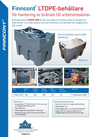 Bränsletank Finnkont LTDPE-250 produktblad