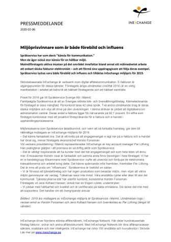 Miljöprisvinnare som är både förebild och influens