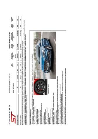 Ford Focus ST, hinnasto