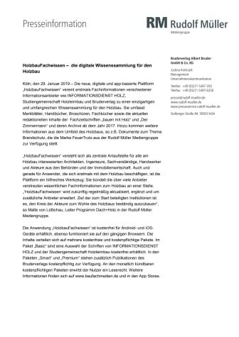 HolzbauFachwissen –  die digitale Wissenssammlung für den Holzbau