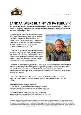 Sandra Wilke blir ny vd på Furuvik
