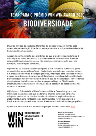 Tema para WIN WIN Award 2020 – Biodiversidade