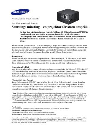 Samsungs minsting – en projektor för stora anspråk