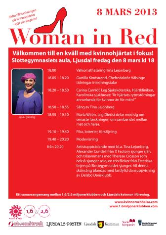Woman in Red i Ljusdal – en kväll med kvinnohjärtat i fokus!