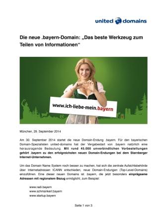 """Die neue .bayern-Domain: """"Das beste Werkzeug zum Teilen von Informationen"""""""